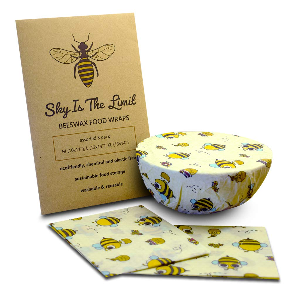 SKYISTHELIMIT Beeswax warp Assortment of 3, Organic Sustainable Food Wrap: Amazon.es: Hogar