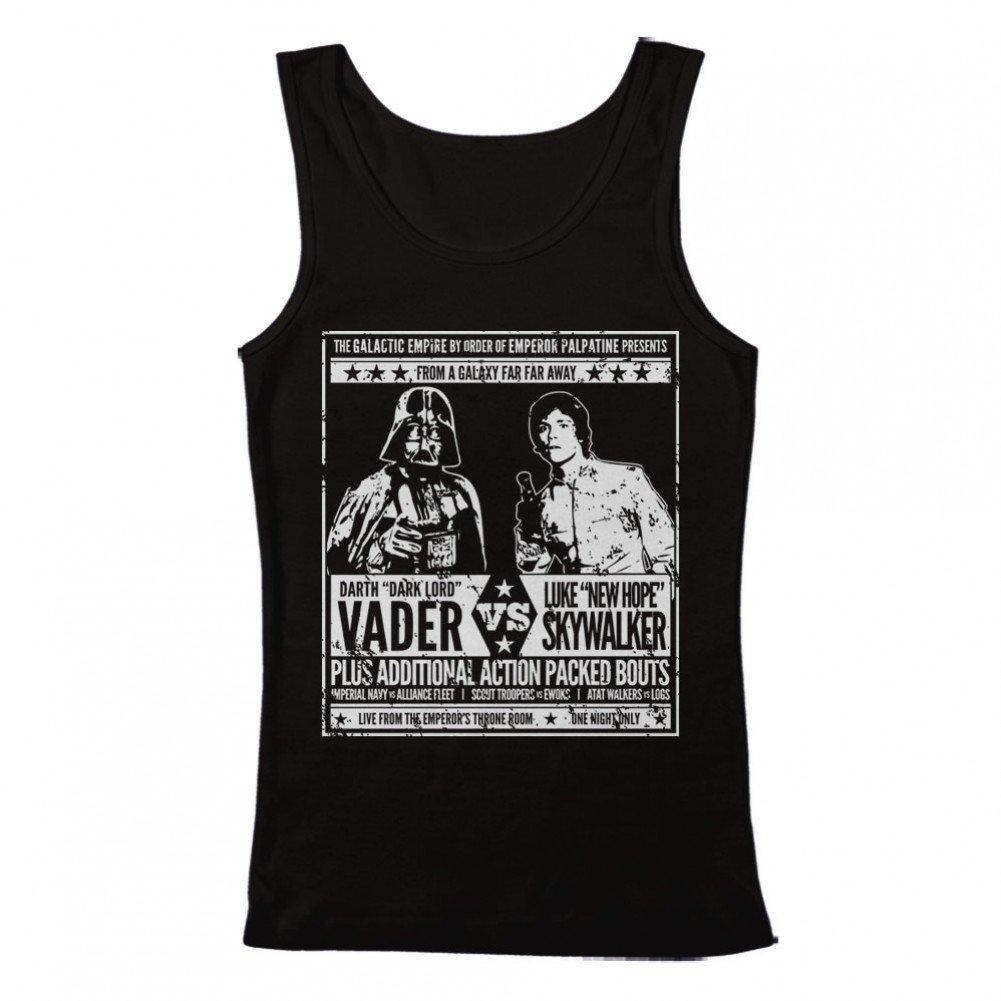 GEEK TEEZ Star Wars Vader vs Skywalker Mens Tank Top