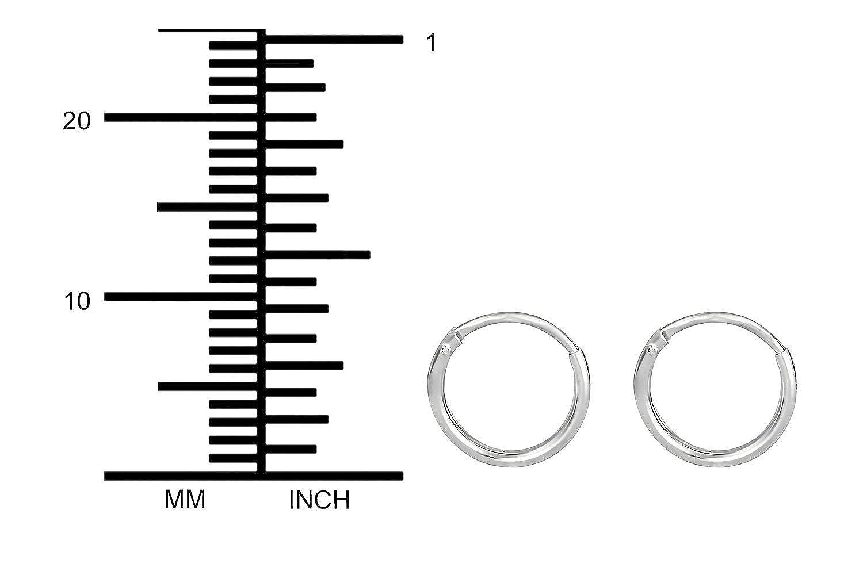 Hypoallergenic Small Sterling Silver Tiny Hoop Earrings for Kids Nickel Free 10mm-11mm