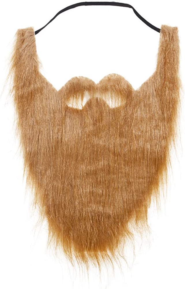 Funny Costume Party Halloween Fancy Dress Facial Hair Moustache Wig Fake Beard