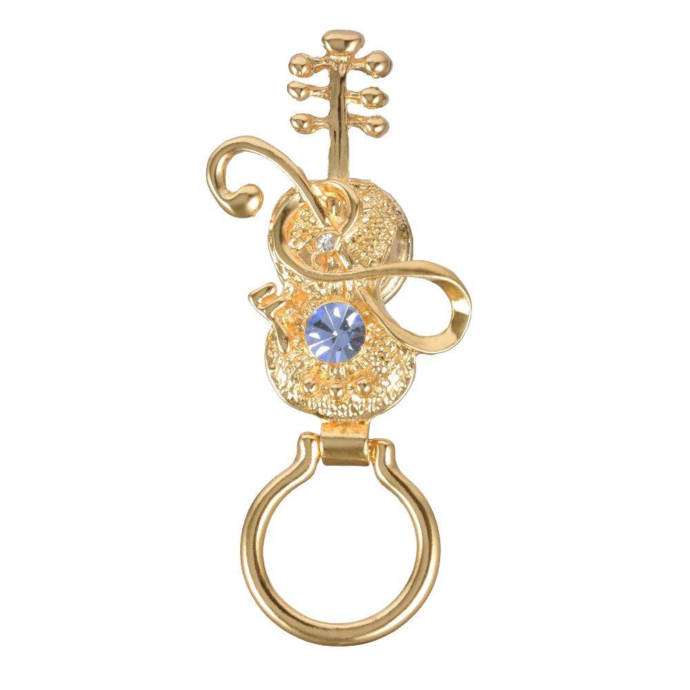 GUANDU Music Style Violin Magnetic Eyeglass Holder For Unisex Music Lover (Gold)