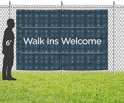 Entrance Chalk Burst Wind-Resistant Outdoor Mesh Vinyl Banner CGSignLab 12x3