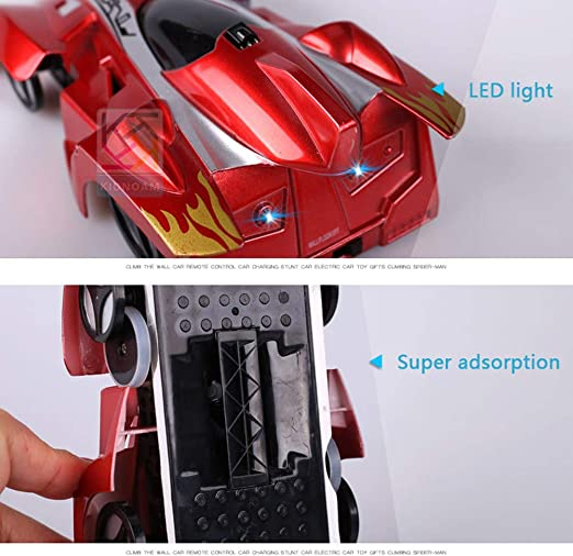YFASD Coche Teledirigido Regalos para Niños de 7-12 años Coche RC Escalador de Pared para Niños 360° Rotación Truco Coche Racing Vehículo con luz LED Stunt Car,C: Amazon.es: Hogar