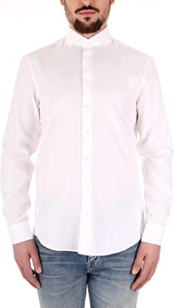 Calvin Klein K10K103182 Camisa Hombre Blanco 40: Amazon.es: Ropa y accesorios