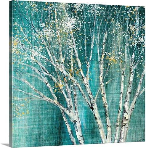 Blue Birch Canvas Wall Art Print