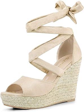 tie up espadrille platform sandals