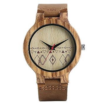 16022b5ca3c Minimalist Bamboo Bangle Women Wristwatch Rhombus Quartz Nature Wooden  Leather Men Creative Watches Relogio