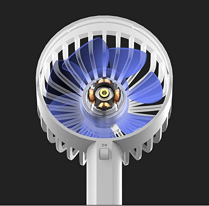 BNSDMM USB Small Fan Mini Rechargeable Storage Student Cute Dormitory Bedroom Bed Mute Millet Portable Portable Small Fan Desk Desktop Fan Color : E