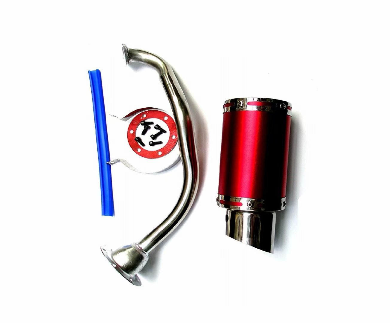 High Performance Exhaust System Muffler for GY6 50cc-400cc 4 Stroke Scooters ATV Go Kart NEW Red