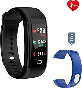 Q8Pro Smartwatch Blutdruck Pulsmesser Fitness Tracker Bluetooth Wasserdicht IP68