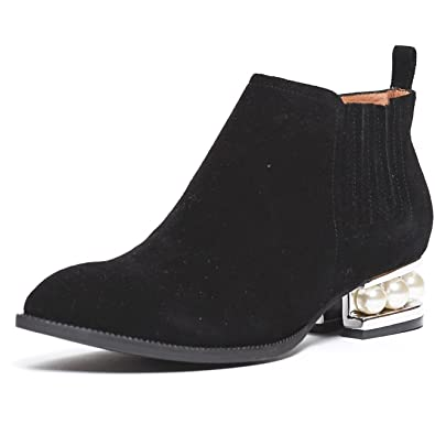 e753ca161 Jeffrey Campbell Metcalf Sh Black Suede Gold Pearl Embedded Heel Ankle  Bootie (6)