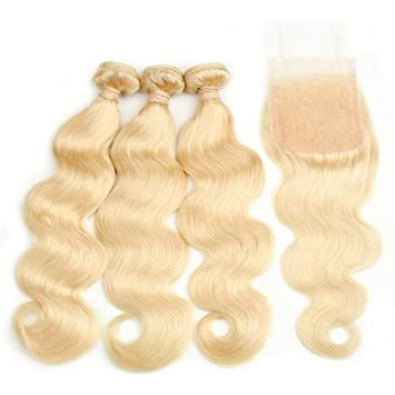 Hair Extensions & Wigs Human Hair Weaves Generous Color 27 Bundles With Closure Honey Blonde Bundles With Closure Brazilian Hair Weave Straight Human Hair 3 Cheap Bundles