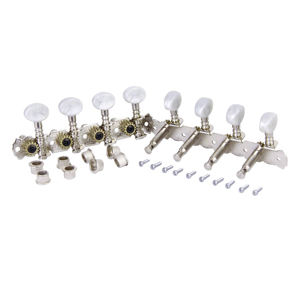 4 4 Mandolin Machine Heads Tuning Clavijas Afinadores W White Pearl Button Buje De Tornillo