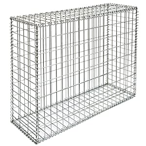 gabion for stones 100x80x30cm mesh 5x10cm outdoor metal basket cage wire 4mm spiral. Black Bedroom Furniture Sets. Home Design Ideas