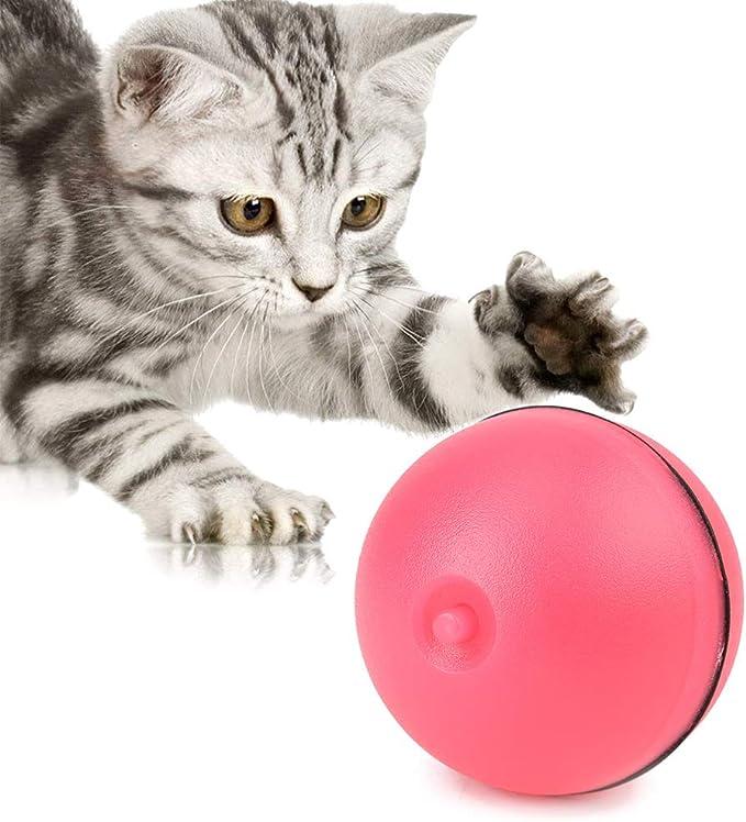 HEEPDD Juguete Interactivo para Gatos, Divertido Pelota giratoria ...