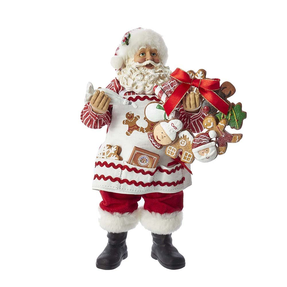 Kurt Adler C7478 11'' Fabriche Gingerbread Santa Decorating Wreath