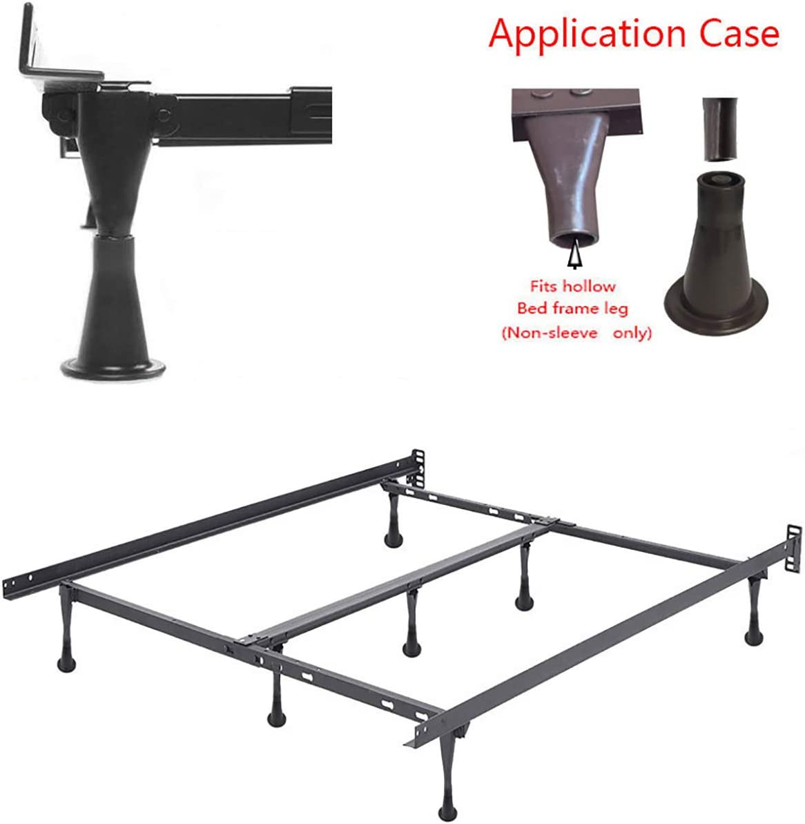 Set of 4 CAFORO Bed Frame Feet That Replace Your Wheels Replacement Feet Allow Your Bed to Be Stationary Without Damaging Your Floor