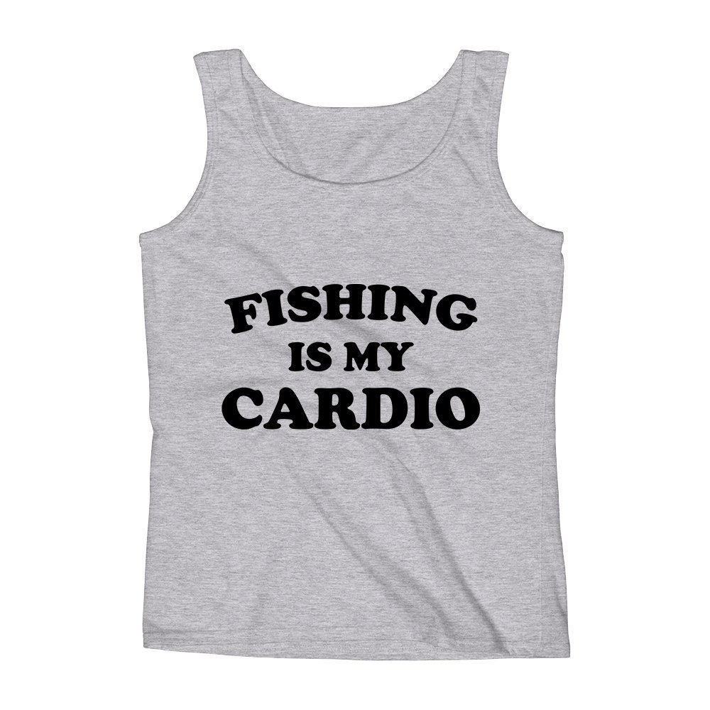 Mad Over Shirts Fishing is My Cardio Unisex Premium Tank Top