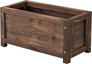 LSYFCL Raised Garden Bed Elevated Garden Bed Flower Trough for Vegetable Planter with Window Plant Yard Wooden PlantingWood Plastic Elevated Garden Bed Planter Boxes Outdoor