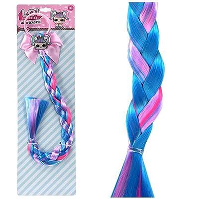 UPD LOL Bow w/Faux Hair Braid & Poly Glitter Charm: Toys & Games