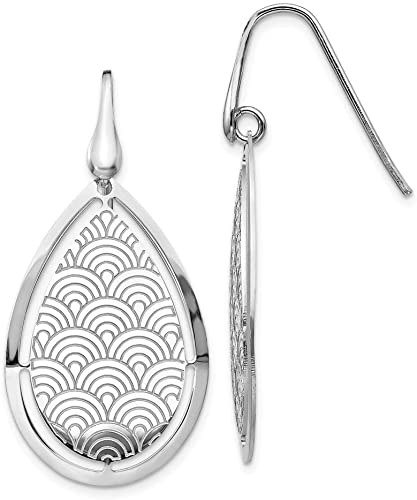 Jewelry Best Seller Leslies Sterling Silver Polished Brushed Front and Back Earrings