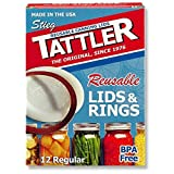 Tattler Reusable Canning Lids and Rings Regular Mouth