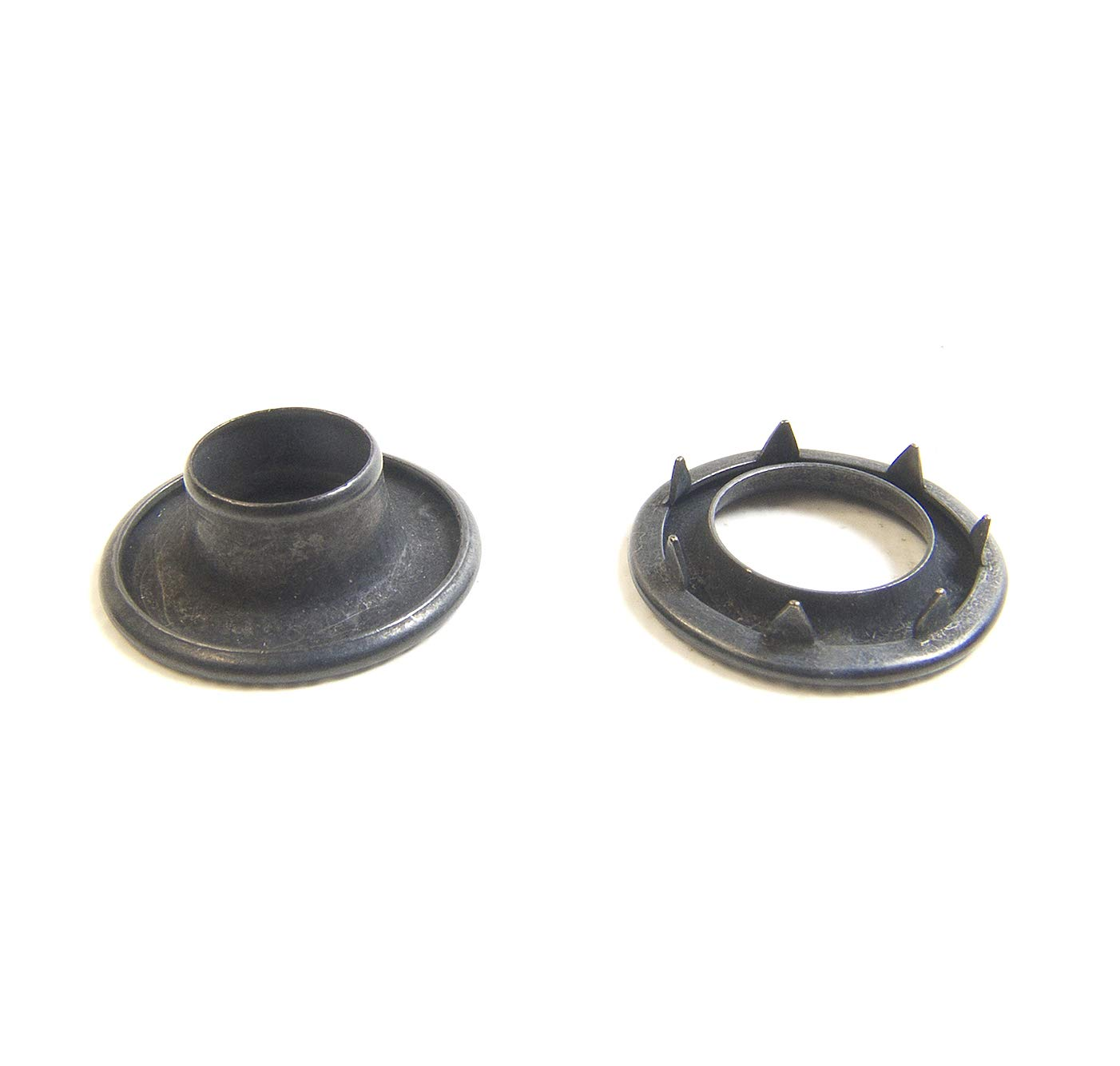 Grommets #3 Heavy Duty Rolled Rim Spur, Black Oxide Coated Brass, Select Quantity Needed (50 Piece Set)