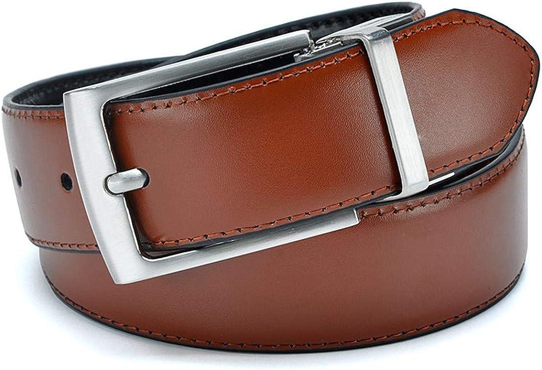 Mens Formal Business Leather Shoulder Strap Detachable Buckle Belt