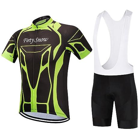 Bib shorts set Mens Cycling Jersey Half Sleeve Top Racing Biking Top