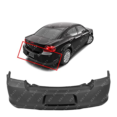 Crash Parts Plus Primed Rear Bumper Cover Replacement for 2011-2014 Dodge Avenger Sedan