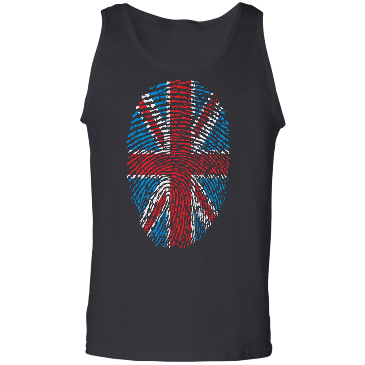 United Kingdom UK Pride Flag Fingerprint Country Proud Gift Tank Top