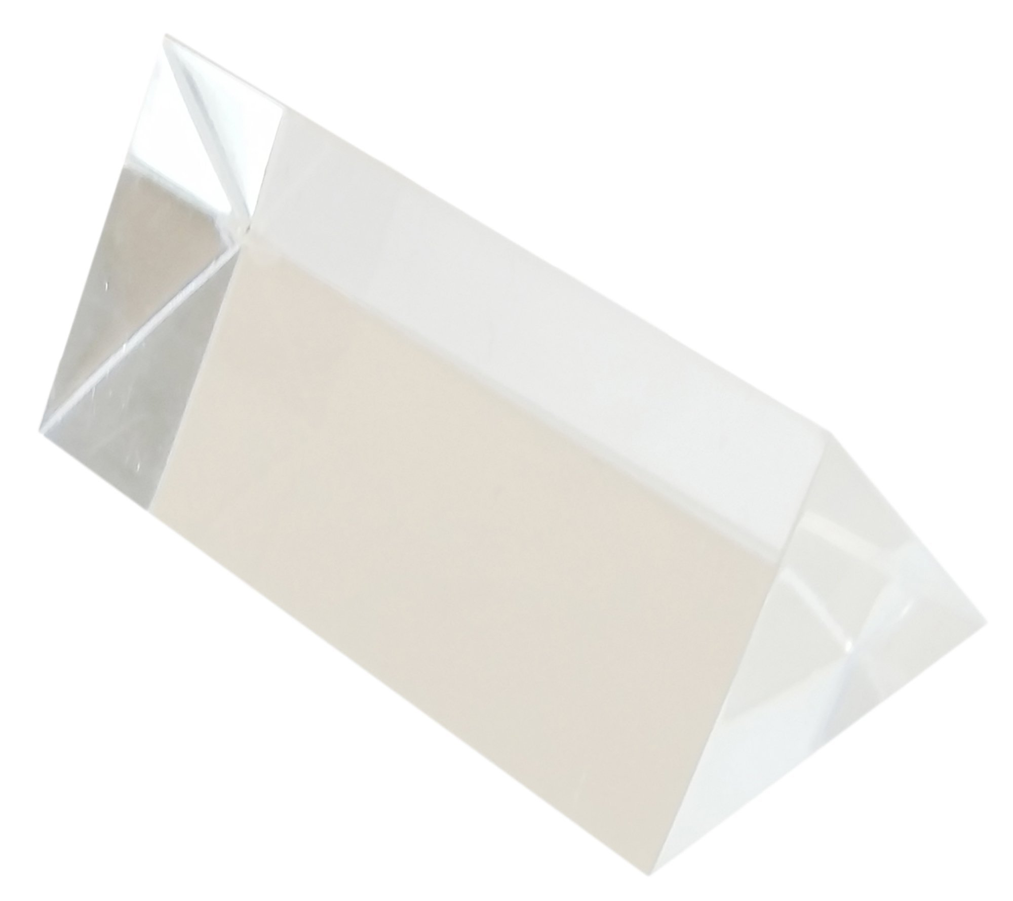 GSC International 4-90974-10 Acrylic Equilateral Prism, 25mm face, 50mm Long (Pack of 10)