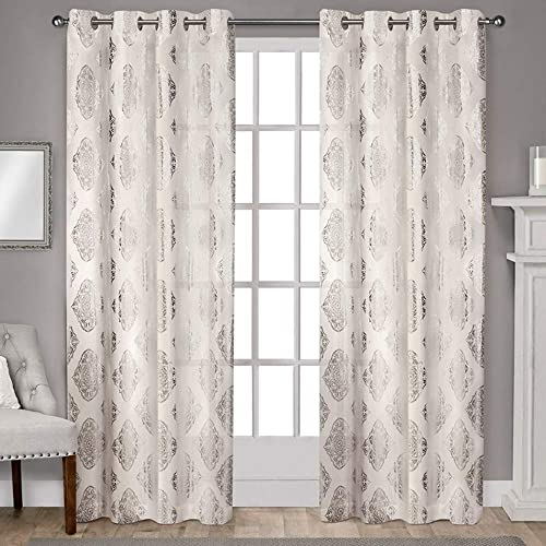 Exclusive Home Curtains Augustus Metallic Grommet Top Panel Pair