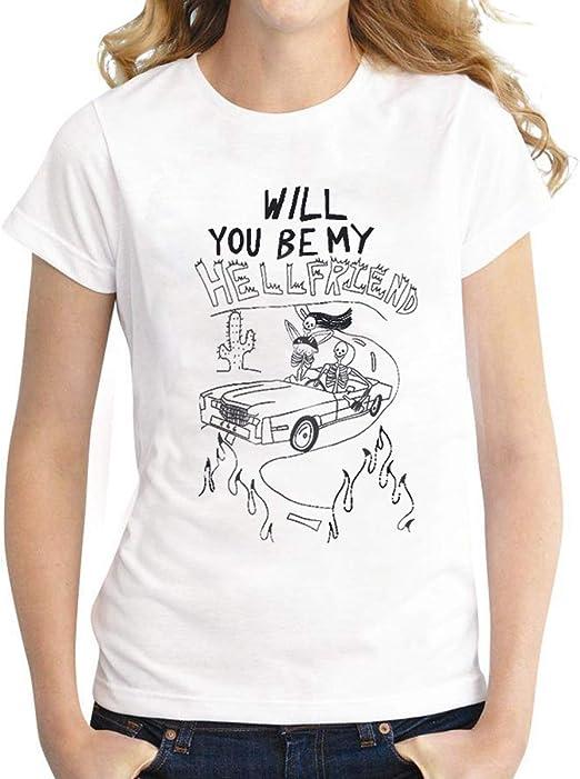Camiseta de Manga Corta para Mujer, diseño con Texto en inglés ...