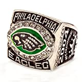 WIBBLY Man's 2004 Year Diamond Annual Philadelphia Eagles Championship Rings,Size 14