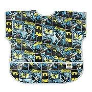 Bumkins Baby Toddler Bib, DC Comics Waterproof Junior Bib, Batman Comic (1-3 Years)
