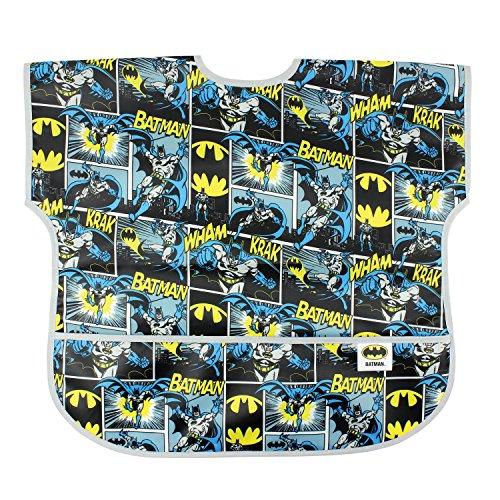 Batman Infant Bib - Bumkins Baby Toddler Bib, DC Comics Waterproof Junior Bib, Batman Comic (1-3 Years)