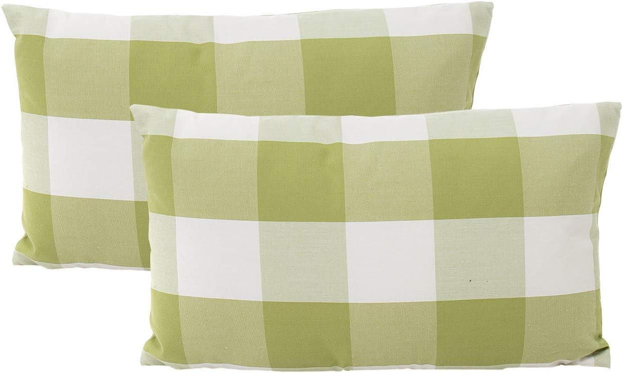 Blue Simple Pattern Pillow Cases Sofa Car Waist Throw Cushion Cover Home Decor