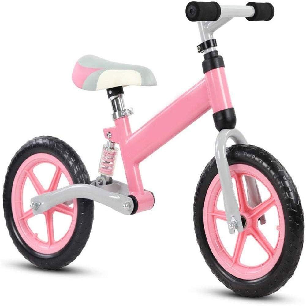 AJH Neumáticos niños Bicicleta de Equilibrio de Peso Ligero Balance de la Bici con amortiguación de Aire Libre Antideslizante Manillar sin Pedal de Empuje Que Caminan del Deporte de la Bicicleta,D