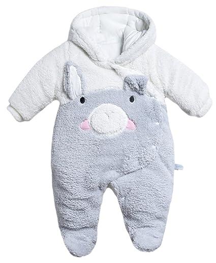 Y-BOA invierno traje Piloto con capucha bebé niña/niño pijama nacimiento Imprimé cerdo