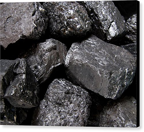 A Close View Of Coal Ready For Burning  By National Geographic  Canvas Print Wall Art  20  X 16   Black Gallery Wrap  Glossy Finish