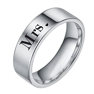 Amazon.com: Mr y Mrs boda y bandas de compromiso, anillo de ...