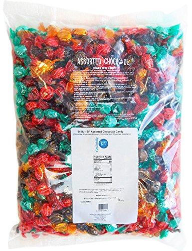 Almond Mint Candy - GoLightly Sugar Free Hard Candy | Chocolate, Chocolate Raspberry, Chocolate Mint, Chocolate Almond | 5 Pound Bag of Bulk Sugar Free Candy