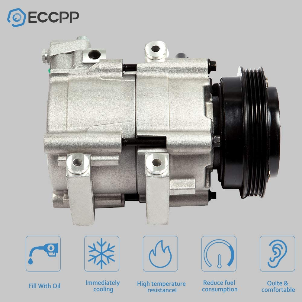 ECCPP A//C Compressor with Clutch CO 10609JC fit for 2000-2006 Nissan Sentra