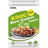"[NEW] KOOC Disposable Slow Cooker Liners and Cooking Bags, Regular Size Fits 1.5-3QT Small Crock Pot, 13""x 15"", 1 Pack…"