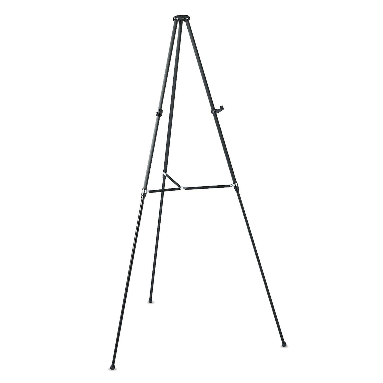Quartet 51E Tripod Easel, 3/4'' Tubular Aluminum Legs, 38''-66'' H, Black