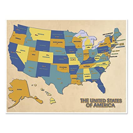 Find A Map Of The United States.Amazon Com Darice Edu1238 Js Map Of The United States Learning Chart