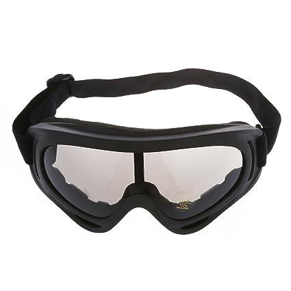 SODIAL(R) Gafas Proteccion Mascara para Moto Esqui Deporte Ajustable Lente Gris