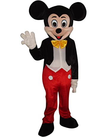 8c6e80194 Mickey Mouse and Minnie Mouse Adult Mascot Costume Fancy Dress Outfit
