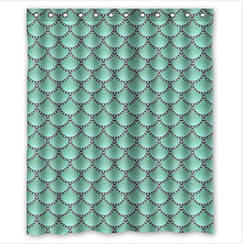 """Personalized Fish Scales Bathroom Waterproof Polyester Fabric Shower Curtain 60"""" x 72"""""""